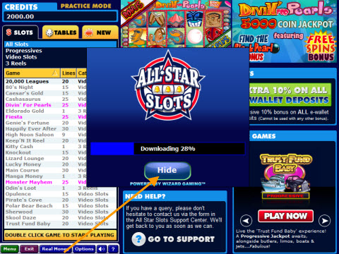 slots of fun english games